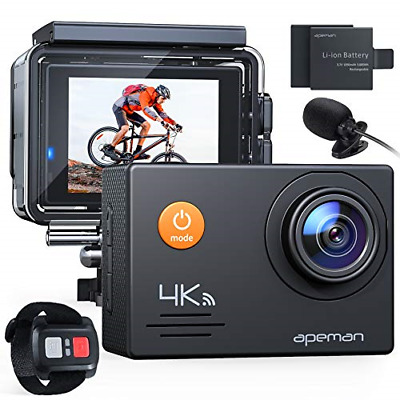 APEMAN Action Camera A79, 4K 20MP WiFi Webcam Underwater Waterproof 40M With And • 58.08£