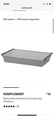 Ikea Komplement Basket Drawers With Runners For Pax Wardrobe 100x58 • 10£