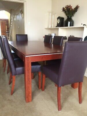 AU500 • Buy Dining Table Redgum 2060 X 1050MM Plus 8 Chairs