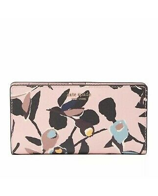 $ CDN47.91 • Buy Kate Spade Cameron Large Slim Bifold Wallet Paper Rose Pink New