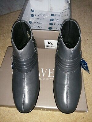 Pavers Ladies Ankle Boots Slate Grey Size 5 38 Brand New In Box RRP £64.99 • 30£