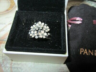 Pandora Pretty Floral Cherry Blossom 925 Ale Large Statement Ring New In Box  • 10£