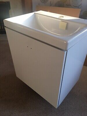 Ideal Standard Concept Space Wall Hung Vanity Unit Basin 500mm Gloss White - New • 100£