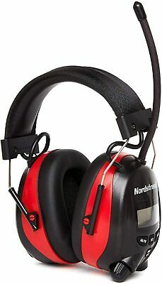 NORDSTRAND Ear Defenders With AM FM Radio Phone Jack Protection Muffs Headphones • 32.99£
