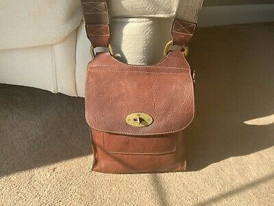 Mulberry Small Anthony Messenger Bag Oak/tan • 84£