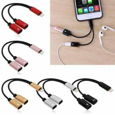 £2.97 • Buy AUX Audio Charging Splitter Cable Adapter Headphone Jack For IPhone 7 8 X 11 12