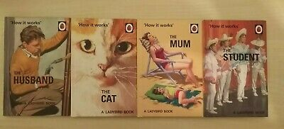 4 Ladybird Books For Grown Ups  How It Works  Series- Husband, Mum, Student, Cat • 5.49£