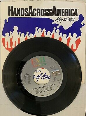 HANDS ACROSS AMERICA      Voices Of America     7   Vinyl  45 Record     VARIOUS • 2.87£