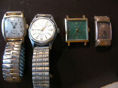 $ CDN12.02 • Buy Vintage Lot Of 4 Watches, 1935 GF Hamilton, Lucerne, Orvin, Bulova, And 6 Bands