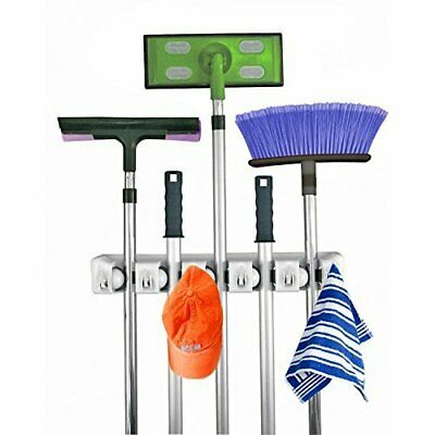 AU30.64 • Buy Home- It Mop And Broom Holder, Wall Mounted Garden Tool Storage Tool Rack