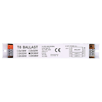 £5.63 • Buy 220-240V AC 2x36W Wide Voltage T8 Electronic Ballast Fluorescent Lamp Ballasts