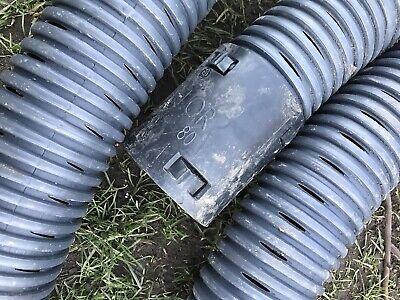 Perforated Pipe Coil For Tree Planting Drainage 80mm X 16 Metre Land Drain • 22£