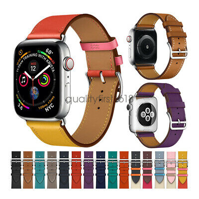 AU9.99 • Buy Genuine Leather Strap For Apple Watch Band SE 6 5 4 3 2 IWatch 44mm 42mm 40mm