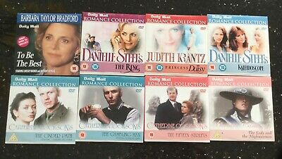 8 DVDs Inc Romance Collection (7) Daily Mail - Danielle Steel, + To Be The Best • 3£