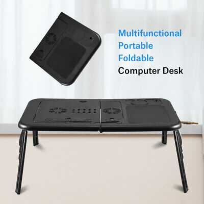UK With USB Cooling Fans Foldable Laptop Desk Sofa Stand Tray Table Bed Sofa • 14.46£