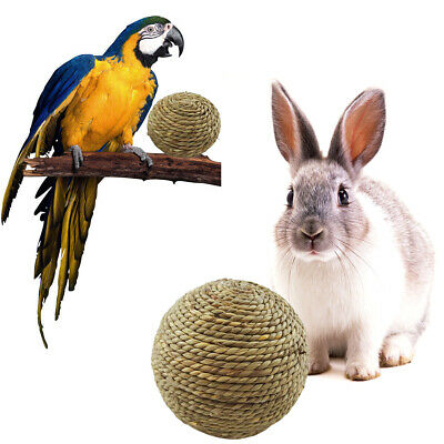 £3.99 • Buy Small Pet Rabbit Cat Chewing Toy Natural Grass Ball For Teeth Cleaning Toys