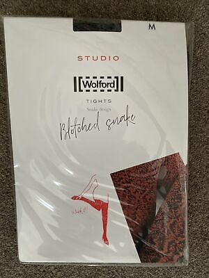 Wolford Studio Tights Blotched Snake Medium Shark Grey/black • 10£