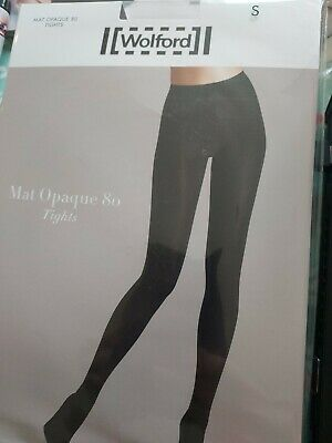 Wolford Mat Opaque 80 Tights, Small, Black • 8.10£
