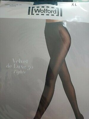 Wolford Velvet De Luxe 50 Tights XLarge Black // • 6.50£