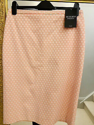 Pure Pink And White Polka Dot Pencil Skirt Size 12 • 4.25£