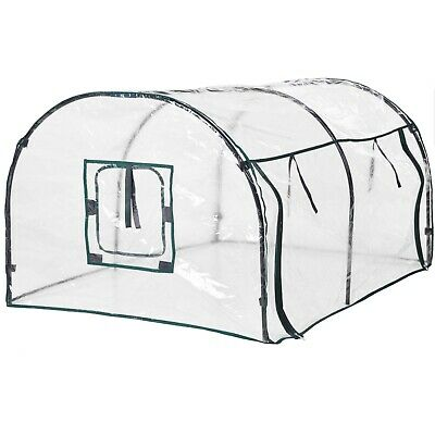 Transparent Plastic Tunnel Greenhouse Grow House Fruit & Vegetables Protector • 17.49£