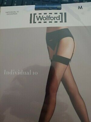 Wolford Individual 10 Stockings, Medium, Black • 3.90£