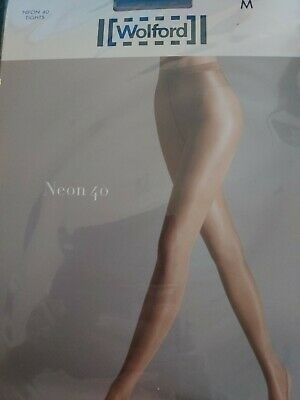 Wolford Neon 40 Tights, Super Shine, High Gloss Luxury Shiny Tights Gobi, Medium • 11.40£