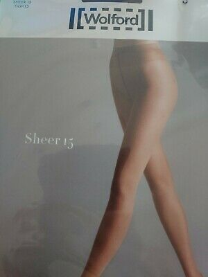 Wolford Sheer 15 Tights, Small, Mole • 5£