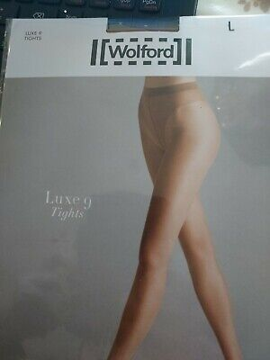 Wolford Luxe 9 Tights, Large,  Mousse/natural • 4.40£