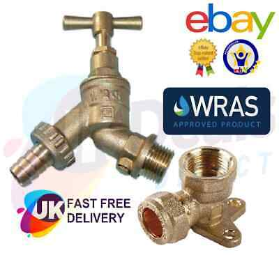 £10.95 • Buy Garden Bib Tap 1/2  With Check Valve Or Wall Plate Elbow Compression Outdoor