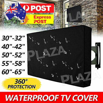 AU20.95 • Buy 30-65 Inch Dustproof Waterproof TV Cover Outdoor Patio Flat Television Protector