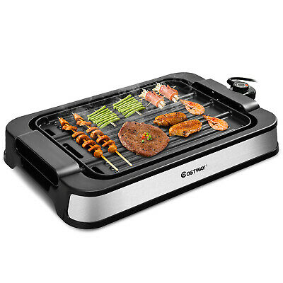 £49.99 • Buy Smokeless Indoor Grill 2000W Electric Griddle W/ Non-stick 2-in-1 Cooking Plate