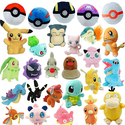 Kids Pokemon Collectible Plush Character Soft Toy Stuffed Doll Teddy Gift UK • 5.99£