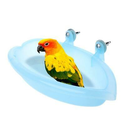 Bird Bath Tub Can Be Fixed Small Parrot Bathtub Plastic Feeding Bowl Box • 3.49£