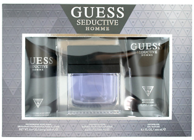 Seductive Homme By Guess For Men Set: EDT 3.4 + Body Spray 6.0 + Shower Gel 6.7 • 27.49£