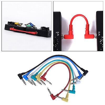 $ CDN15.90 • Buy 6x 12  Guitar Patch Cable Guitar Effect Pedal Cables Instrument Cable