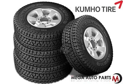 $428.28 • Buy 4 Kumho Road Venture AT51 P235/75R15 109T All Terrain Truck 55k Mi 3PMSF Tires