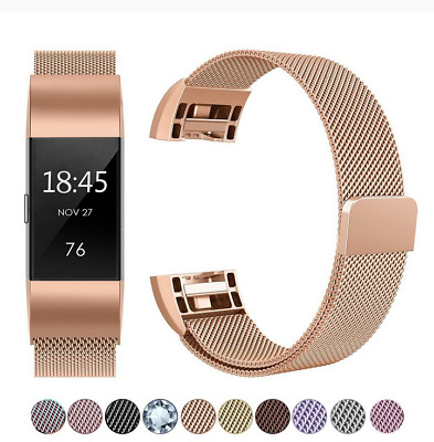 AU9.09 • Buy For Fitbit Charge 2 Band Metal Stainless Steel Milanese Loop Wristband Strap AU