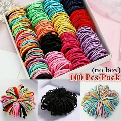 $ CDN3.55 • Buy 100Pcs Kids Girl Elastic Rope Hair Ties Ponytail Holder Rubber Band Hairband