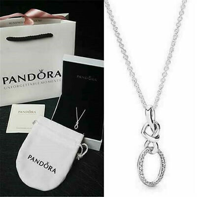 Pandora Genuine Sterling Silver Pendant Necklace Knotted Heart Package 398078CZ • 17.89£