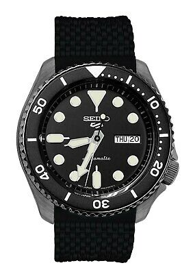 $ CDN247.30 • Buy Seiko 5 Sports Automatic Watch SRPE23 Black Dial Date Day Silicone Band New