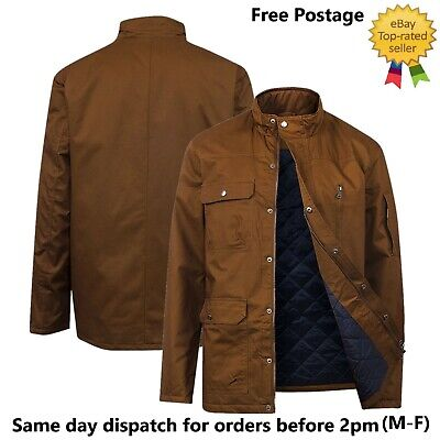 £19.99 • Buy Mens Army Combat Military Style Long Sleeve Lightly Padded Jacket Ex UK Chain