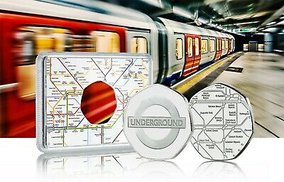 LONDON UNDERGROUND Official Silver Commemorative In Case. Subway/Tube/Train/TFL • 12.99£