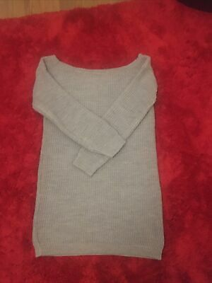 Miss Guided Off The Shoulder Jumper Dress Size S/M  • 5£