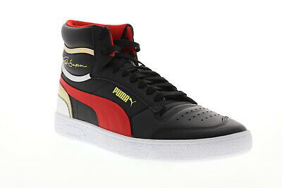AU56.30 • Buy Puma Ralph Sampson Mid 37084703 Mens Black Leather Lifestyle Sneakers Shoes