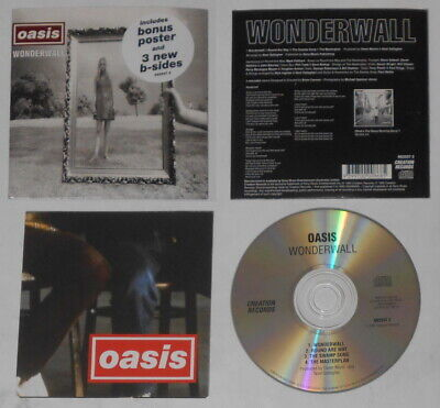 £16.37 • Buy Oasis - Wonderwall - Australia Cd, Card Cover With Poster