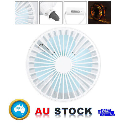AU16.99 • Buy 5W 360º Blowing USB Charging Portable Car Ventilation Cooling Fan With LED Light