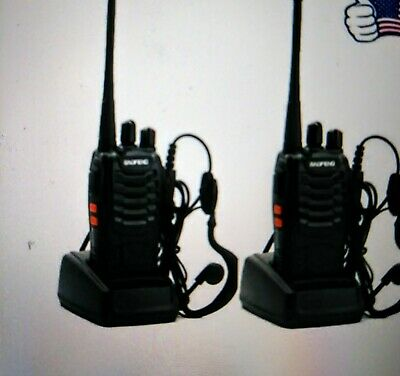$ CDN34.89 • Buy 2 Pack Long Range Walkie Talkie Rechargable Handheld Two Way Radio With Earpiece
