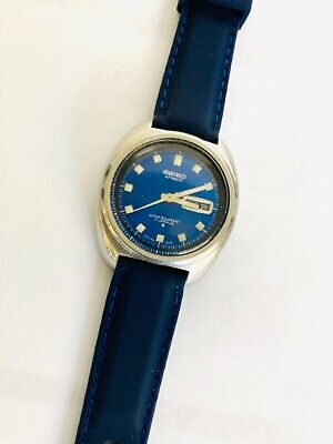 $ CDN13.24 • Buy Vintage 1970'S Seiko Automatic 17 Jewels  6106-8237 Blue Face Blue Org. Crystal