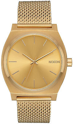 AU164.25 • Buy Watch Woman Nixon Mini Time Teller A1187502 Of Stainless Steel Gold